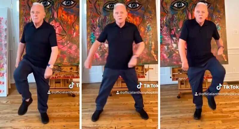 82-летний Энтони Хопкинс выпустил свой первый тикток и станцевал под песню Дрейка