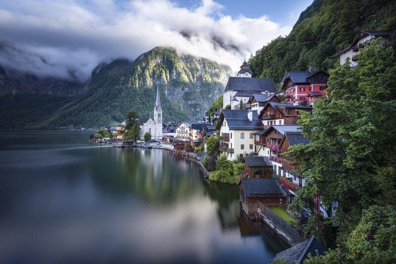Красота австрийских Альп - Халльштатт, Австрия