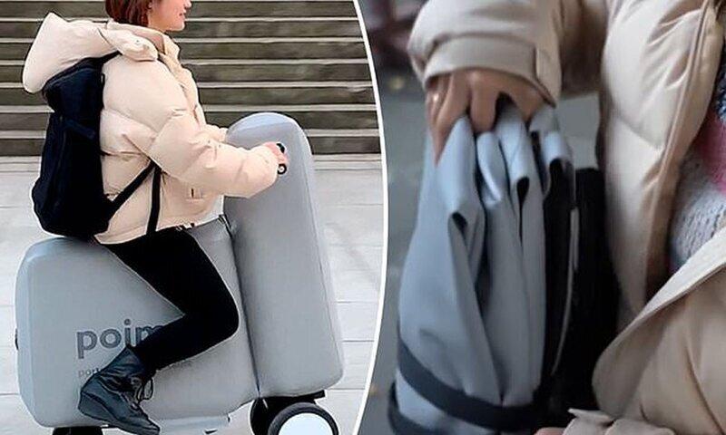 Японцы создали надувной электровелосипед, который помещается в рюкзаке