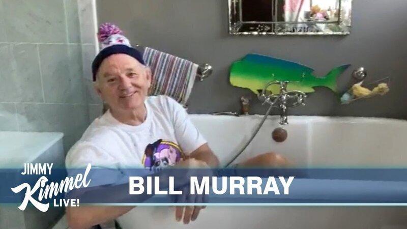 Билл Мюррей дал интервью лежа в ванной