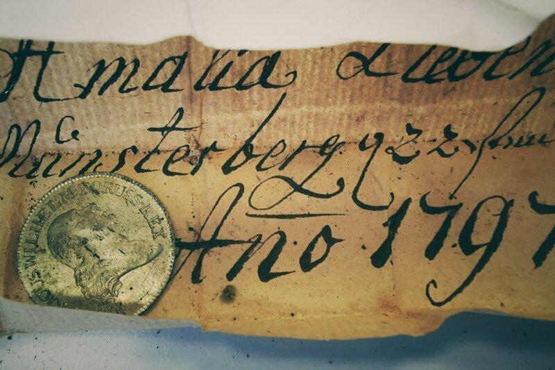 В церкви нашли тайник с посланием из XVIII века