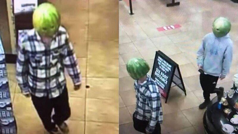Преступники с арбузом на голове ограбили магазин в США