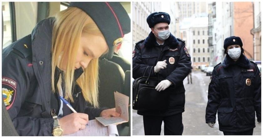 Полицейский без маски и перчаток оштрафовала мужчину за отсутствие средств защиты и поплатилась