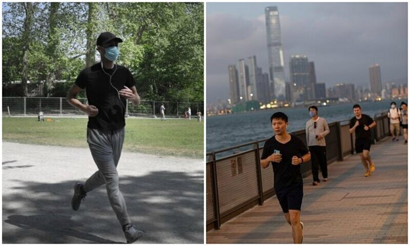 Китаец попал в больницу после пробежки в маске