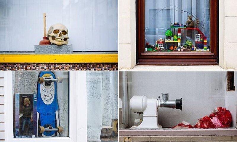 Прирожденные дизайнеры: жители Бельгии и их причудливые оконные инсталляции