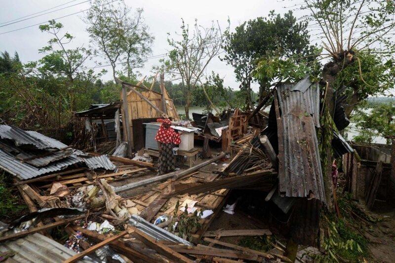 Последствия циклона Amphan в Индии и Бангладеш