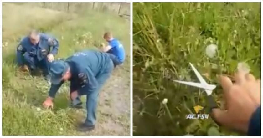 """Российских пожарных заставили """"косить"""" траву маникюрными ножницами"""