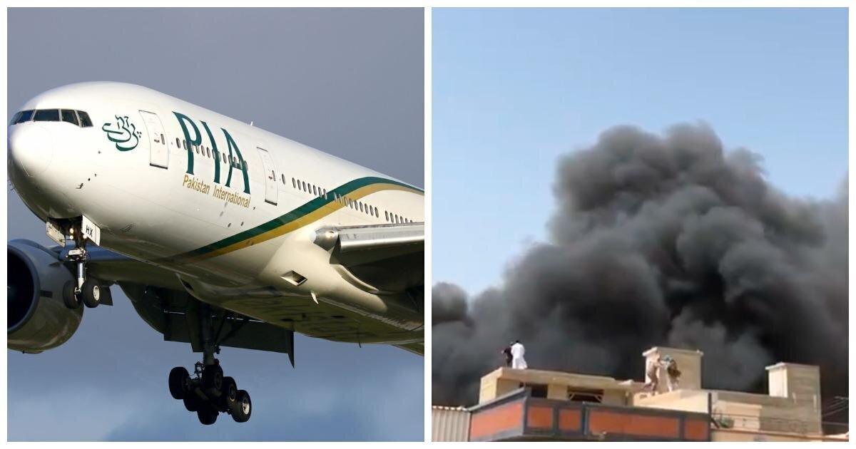 В Пакистане пассажирский самолет упал на жилые дома