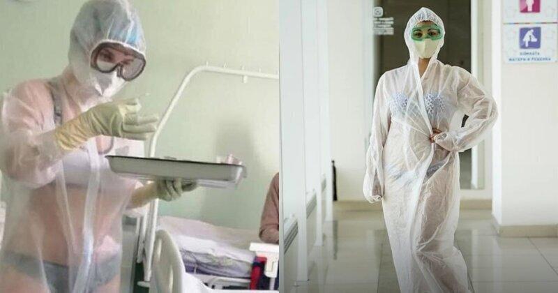 В защиту медсестры в купальнике жители Самары организовали флешмоб