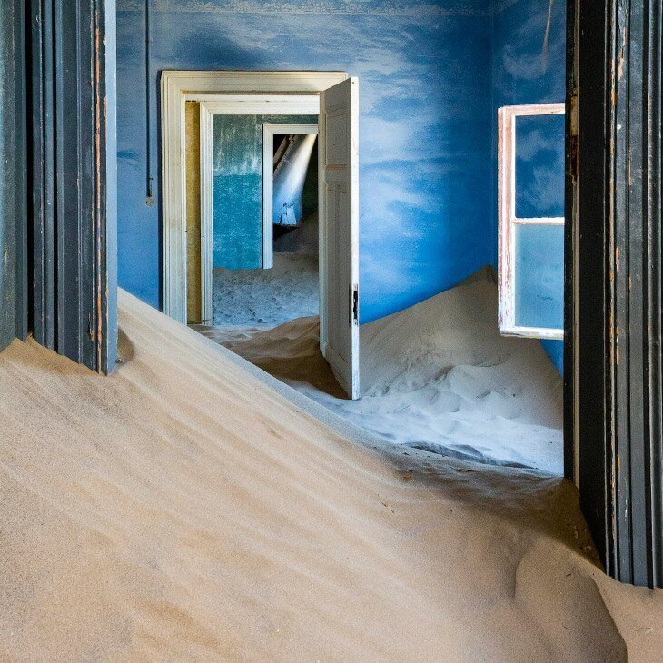 Колманскоп — «алмазный» город-призрак в Намибии