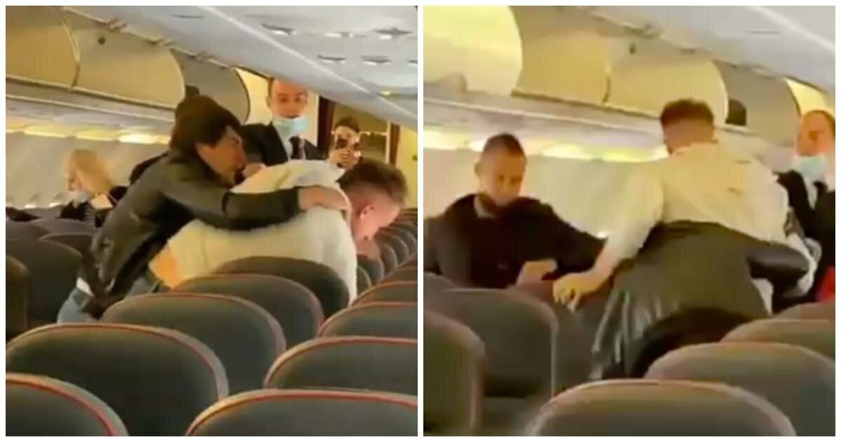 Пассажиры самолета Сочи - Москва подрались во время выхода из салона