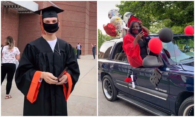 Как американские школьники отмечают выпускной на карантине