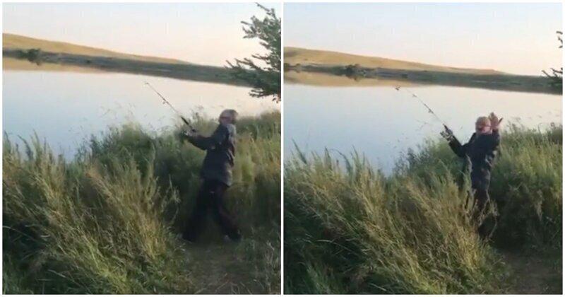 Мужики разыграли пожилого и впечатлительного рыбака