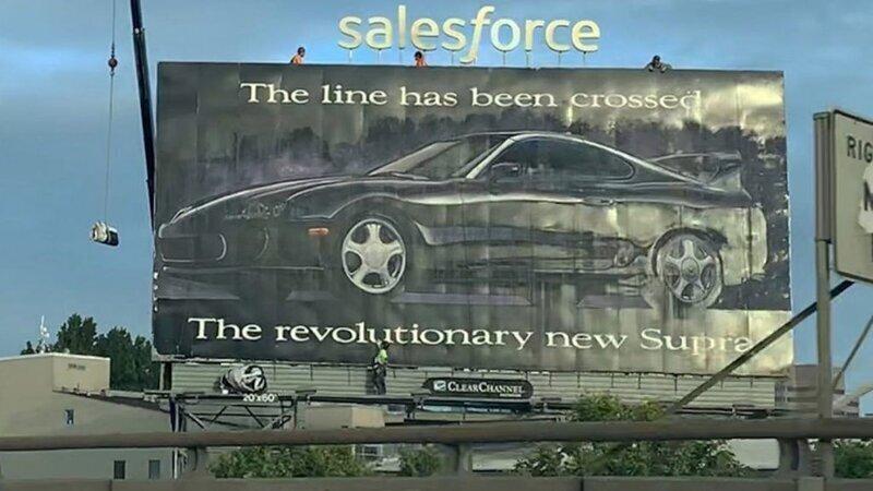 В Сан-Франциско 27 лет висит билборд с рекламой Toyota Supra