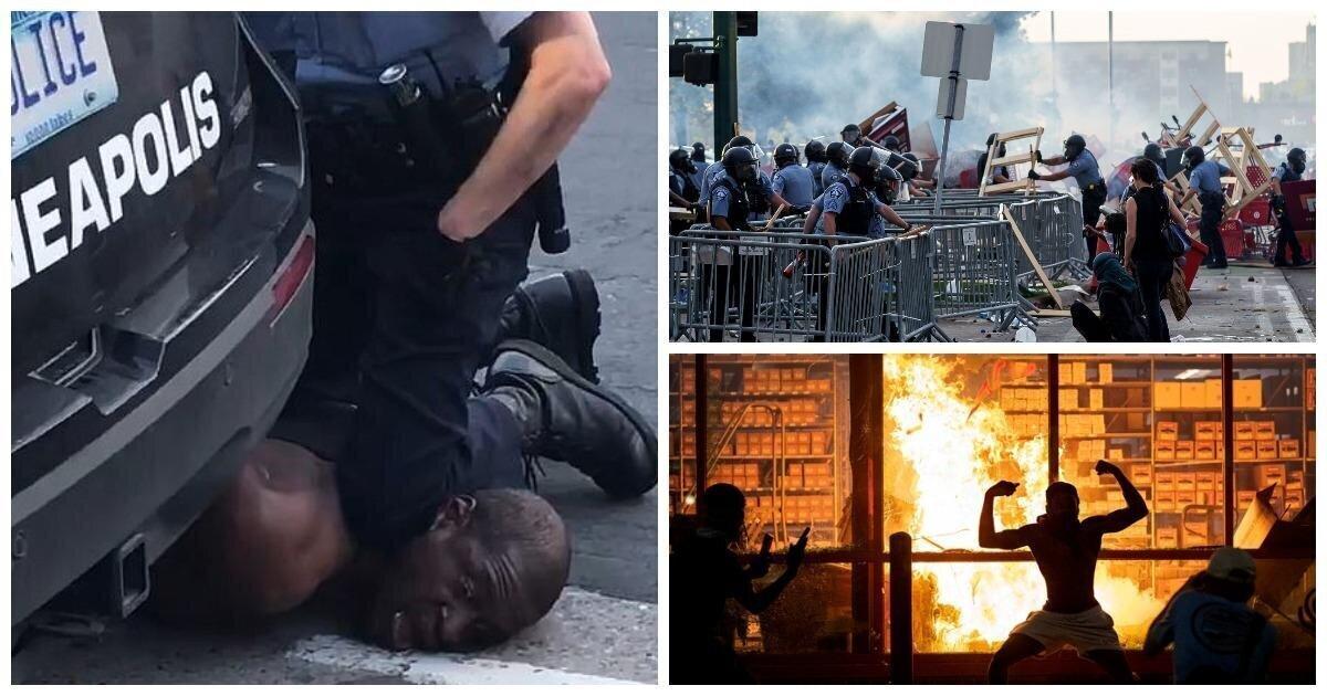 Пожары, погромы, анархия: после убийства полицейским чернокожего в американском городе вспыхнул бунт