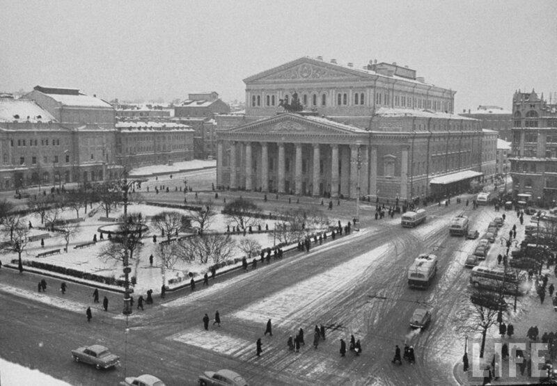 Фотографии былых времён. Зима в Москве 1959 года