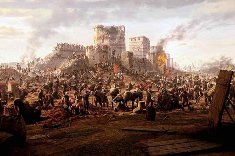 Столица Византийской империи Константинополь пал под ударами турков