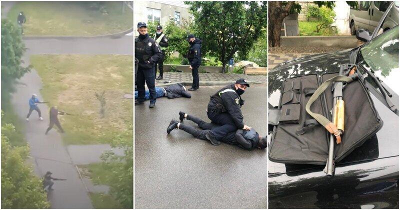 Массовая утренняя перестрелка под Киевом