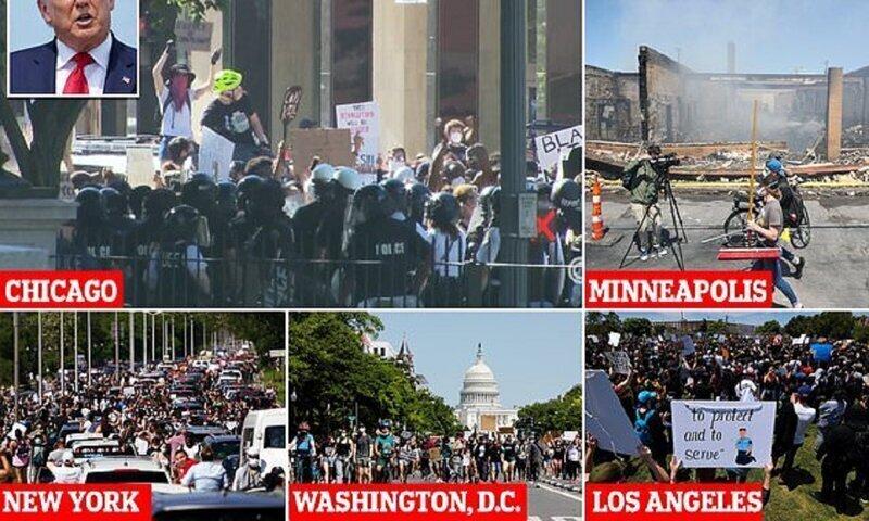 Америку сотрясают протесты: Лос-Анджелес в огне