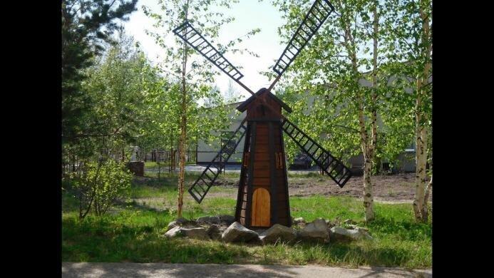 Декоративная мельница своими руками