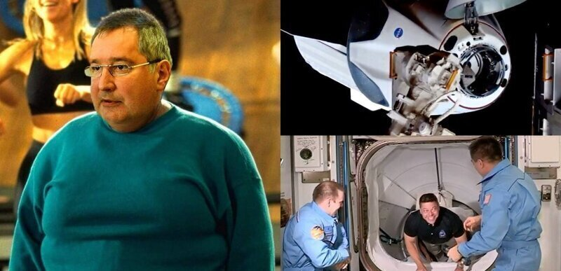 Стыковка Crew Dragon с МКС, удар головой и реакция соцсетей на приключения американцев в космосе