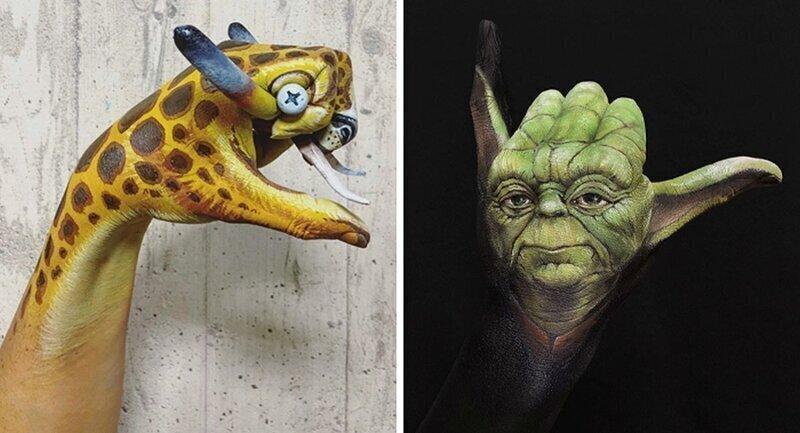 Впечатляющий боди-арт со спецэффектами от японского визажиста