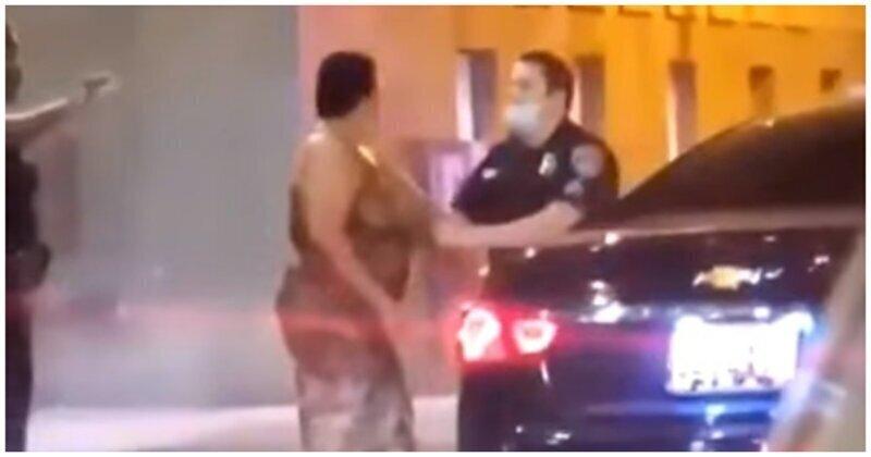 Женщина пожалела, что подняла руку на полицейского