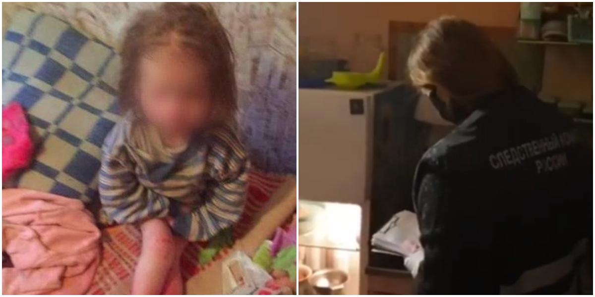 Собутыльник отца заметил в комнате тощую малышку с обмороженными ногами