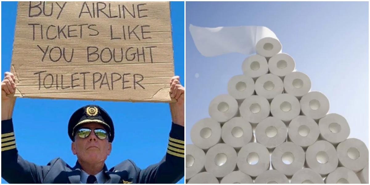 Пилот призвал покупать авиабилеты так же активно, как туалетную бумагу