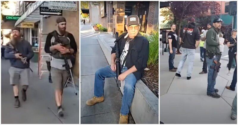 Американцы собрались в вооружённое ополчение для защиты города от беспорядков