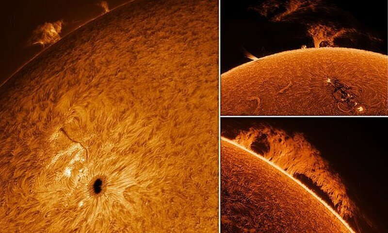 Пенсионер увлекся астрофотографией и сделал потрясающие снимки Солнца