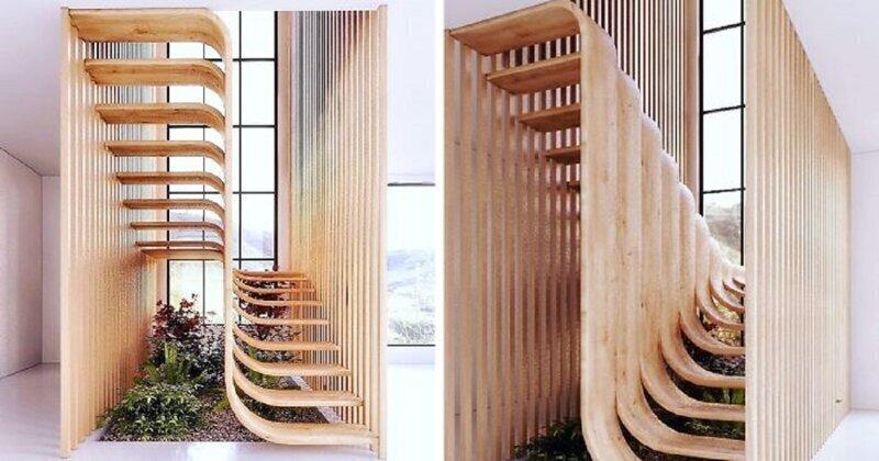 Иранский архитектор придумал лестницу в форме ДНК