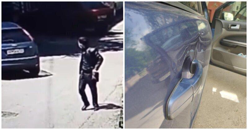 Неожиданный виновник вмятины на автомобиле