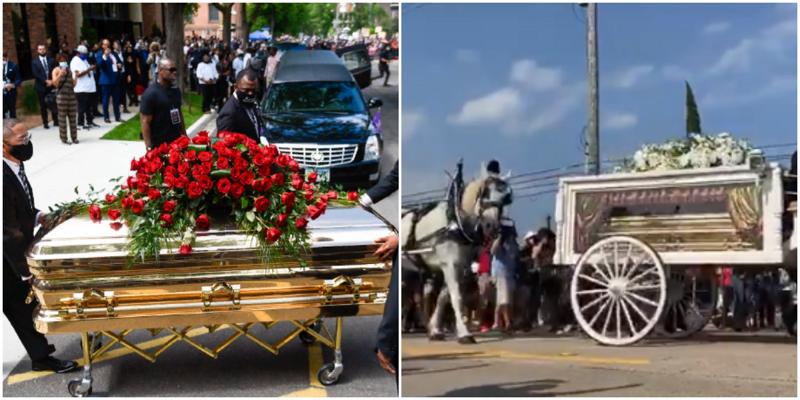 Золотой гроб и карета: в США прошли похороны Джорджа Флойда