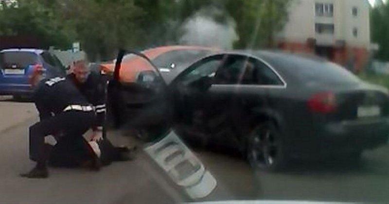 Пьяница-рецидивист: погоня за нетрезвым водителем на Audi в Туле
