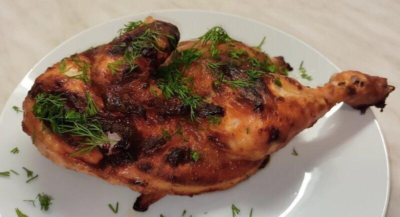 Сочная курица в духовке/так просто и так вкусно