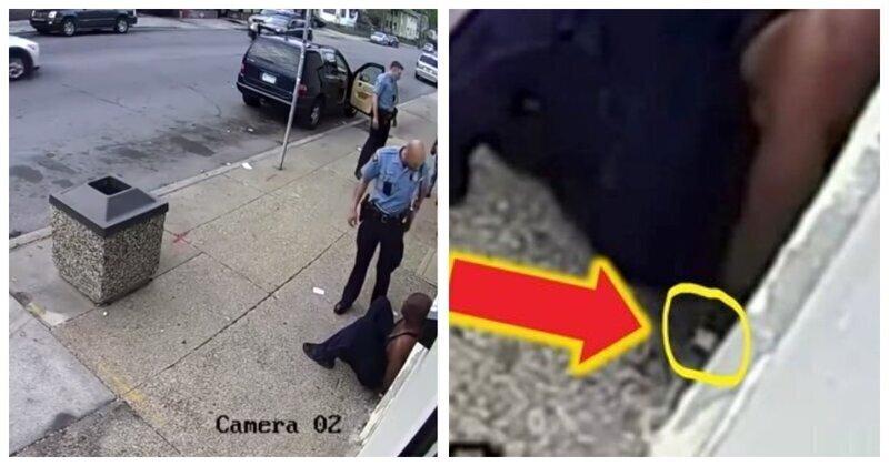 Джордж Флойд скидывает наркотики перед арестом