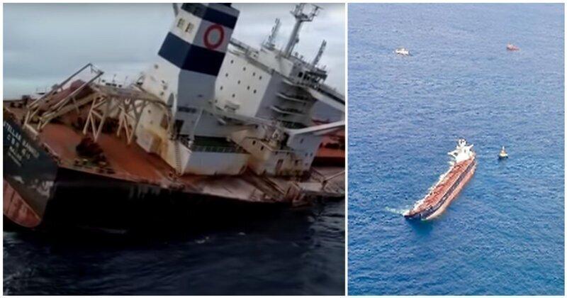 Cписали в океан: затопление огромного судна у побережья Бразилии