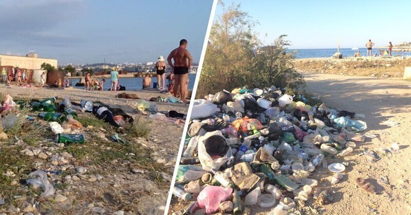 Крым превращают в помойку. Ужасные кадры с пляжей жемчужины Черного моря