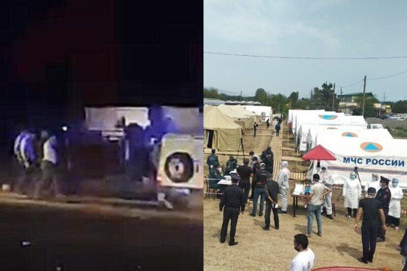 В лагере под Дербентом граждане Азербайджана устроили потасовку