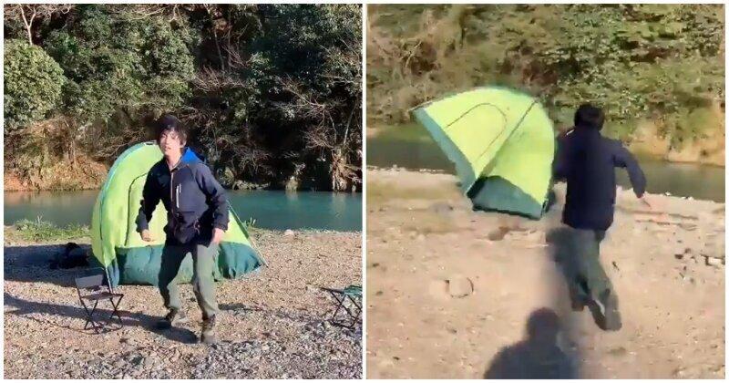 Как же хорошо отдохнуть на природе с палаткой!