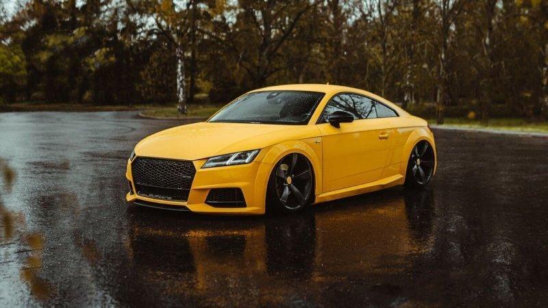Низко и красиво — Audi TT Vegas Yellow из Финляндии