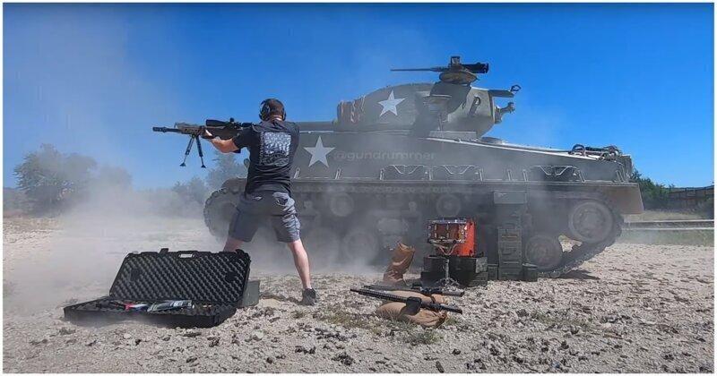 Житель США сыграл хит Slipknot при помощи огнестрельного оружия и танка