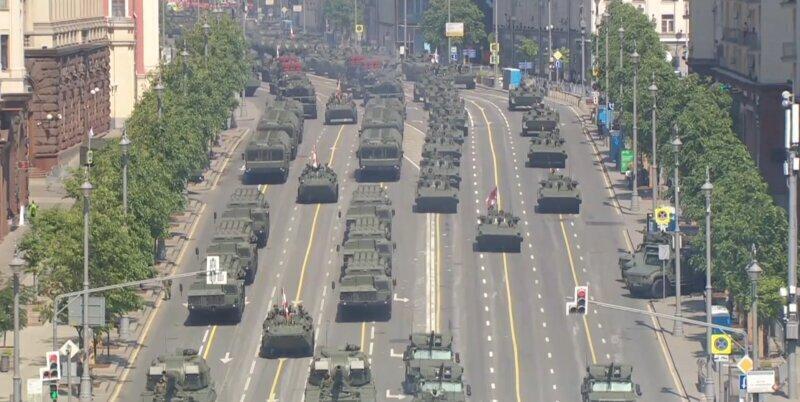 Кадры генеральной репетиции парада Победы в Москве