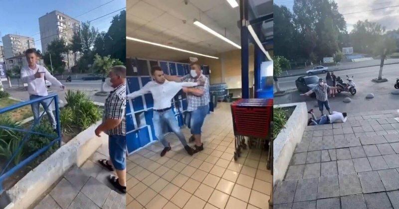 Колбасные бои: разборки двух мужчин в супермаркете