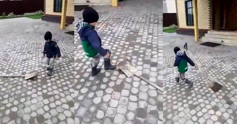 Опыт — это бесценно! Противостояние мальчика против лопаты