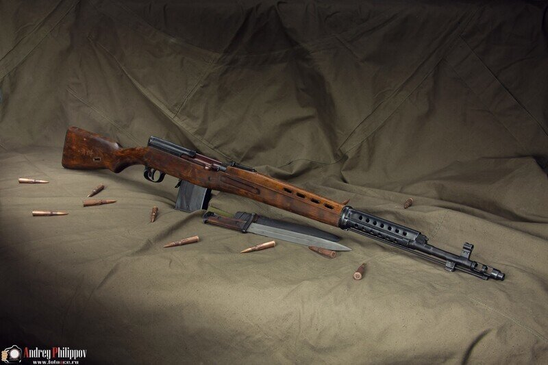 Фотосессия АВТ,  Автоматическая винтовка Токарева