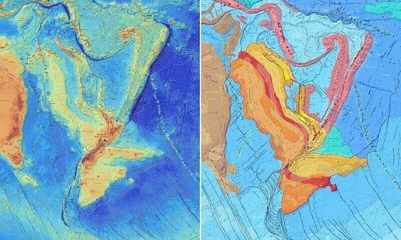 Новозеландские геологи нарисовали карту потерянного континента