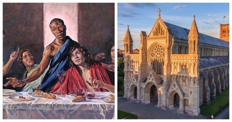Алтарь знаменитого британского собора украсит изображение чернокожего Христа