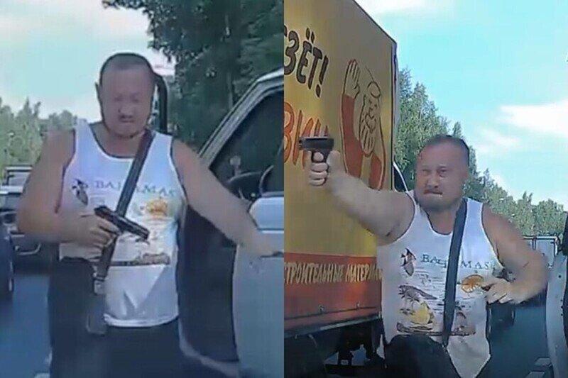 Обочечник расстрелял машину не пропустившего его водителя